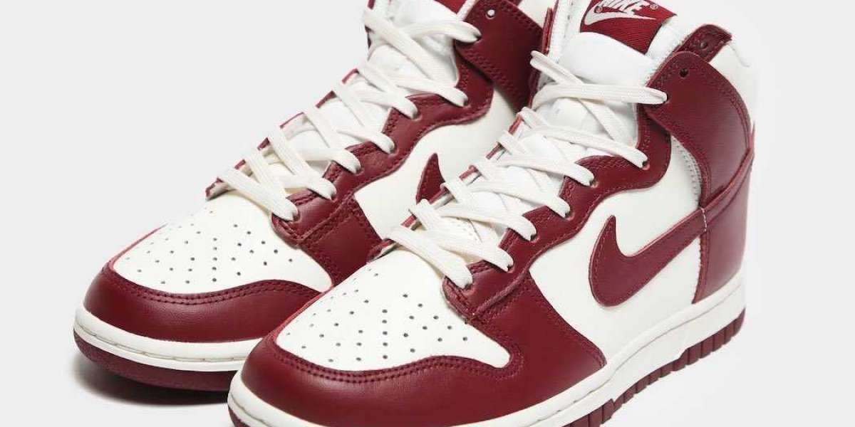 "DD1869-101 Nike Dunk High ""Team Red"" will coming in 2021"