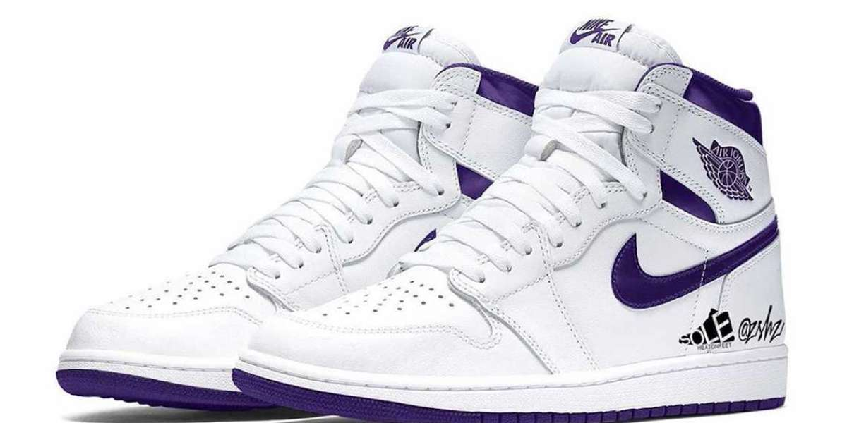 "Buy 2021 Air Jordan 1 High OG ""Court Purple"" Basketball Shoes CD0461-151"