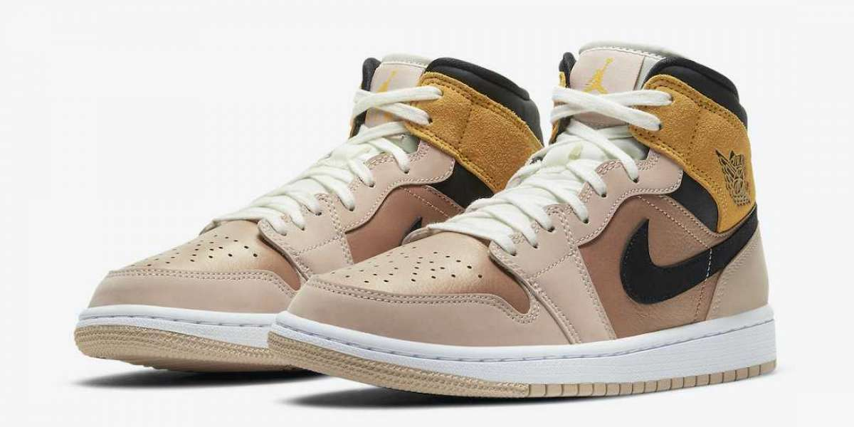 "Nike Air Jordan 1 Mid SE ""Particle Beige""DD2224-200 Releasing Soon"