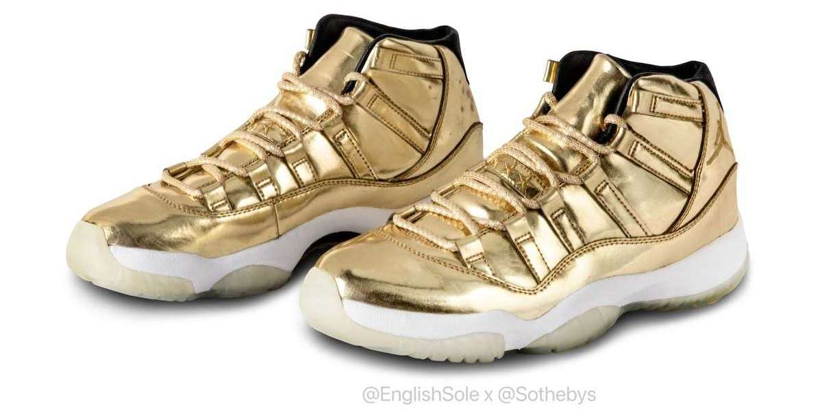 """Where To Buy the Latest Air Jordan 11 """"Metallic Gold"""" shoes?"""