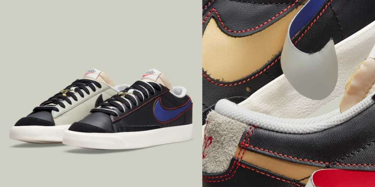 Another Nike Blazer Low '77 commemorating Swoosh with a removable logo