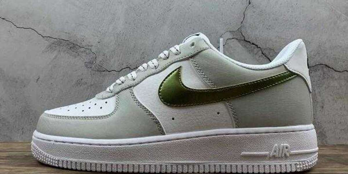 Online Sale Air Force 1 07 White Gray Ink Gold With Free Shipping