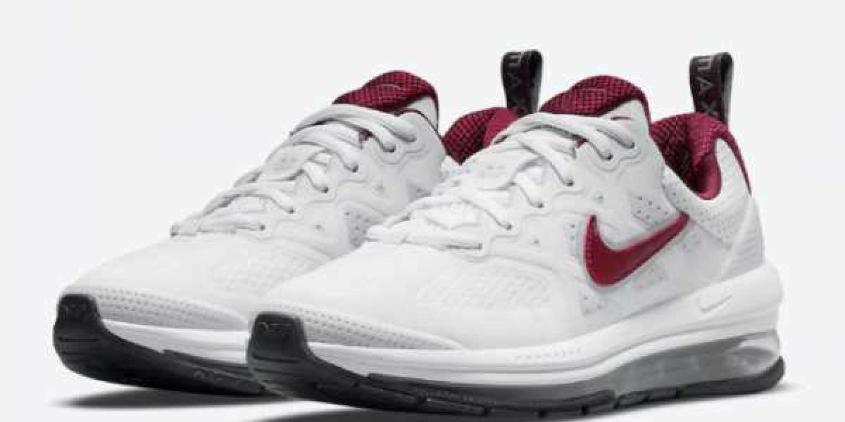2021 New Nike Air Max Genome White/Team Red CZ4652-105 For Sale Online